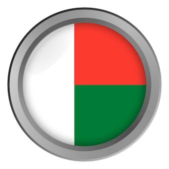 Vlag van madagaskar rond als knop