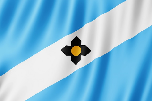 Vlag van madison city, wisconsin (verenigde staten)