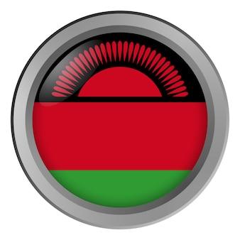 Vlag van malawi rond als knop