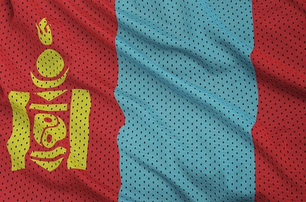Vlag van mongolië gedrukt op een polyester nylon gaas