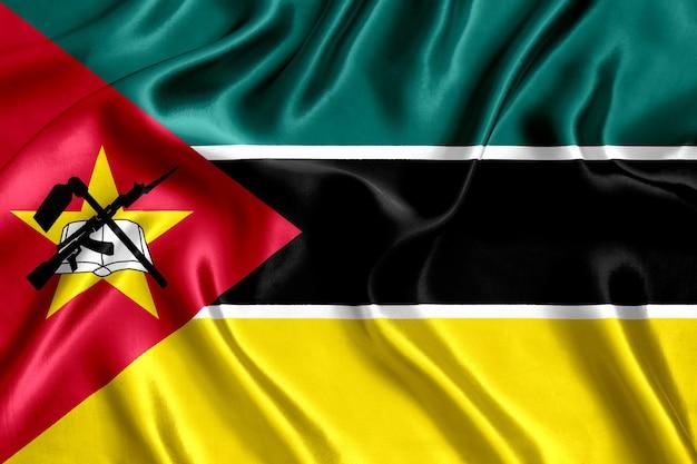 Vlag van mozambique is zijde