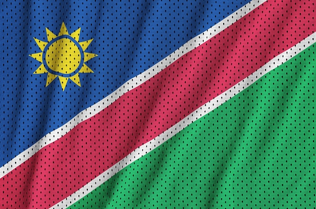 Vlag van namibië gedrukt op een polyester nylon gaas