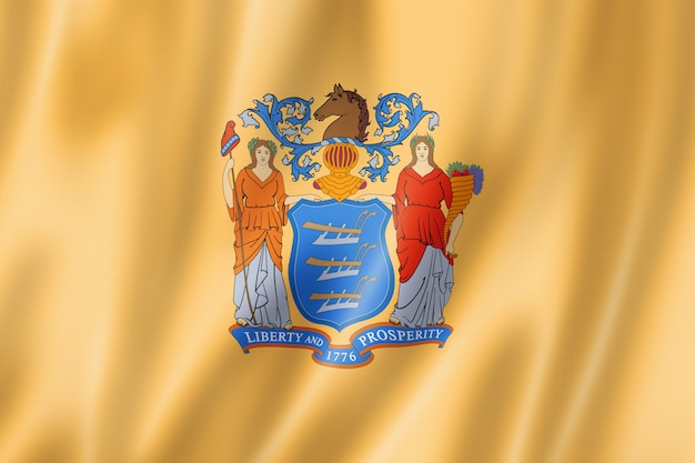Vlag van new jersey, verenigde staten