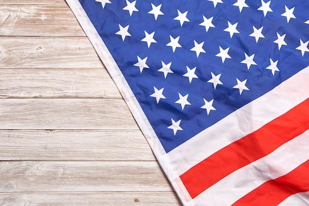 Vlag van noord- en zuid-amerika met wit hout