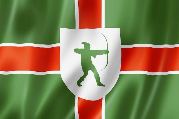 Vlag van nottinghamshire county, verenigd koninkrijk