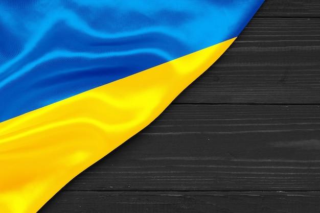 Vlag van oekraïne kopie ruimte