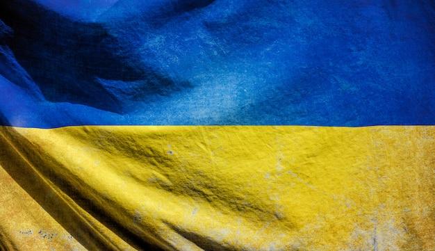 Vlag van oekraïne retro