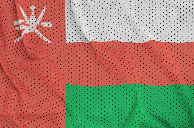 Vlag van oman gedrukt op een polyester nylon sportkledingweefsel