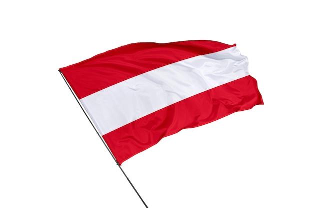 Vlag van oostenrijk op een witte achtergrond