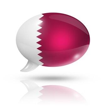 Vlag van qatar tekstballon