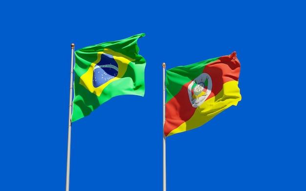 Vlag van rio grande do sul. 3d-illustraties
