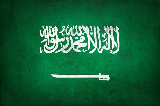 Vlag van saoedi-arabië met grunge textuur.