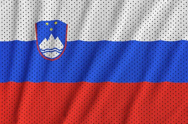 Vlag van slovenië gedrukt op een polyester nylon sportkleding netstof