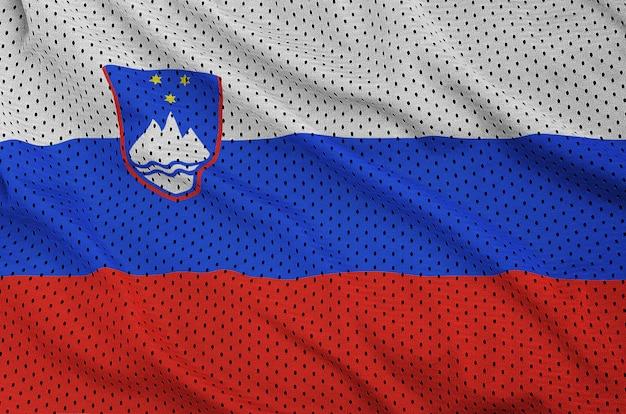 Vlag van slovenië gedrukt op polyester nylon sportkleding