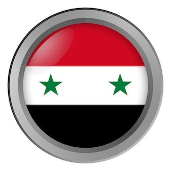 Vlag van syrië rond als knop