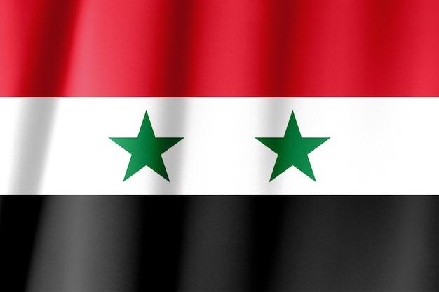 Vlag van syrië zwaaien in de wind