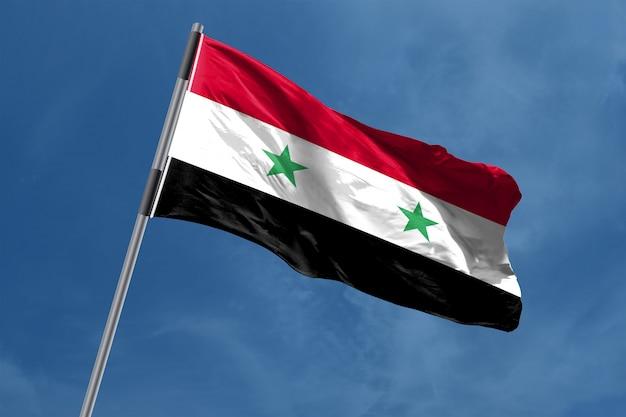 Vlag van syrië zwaaien
