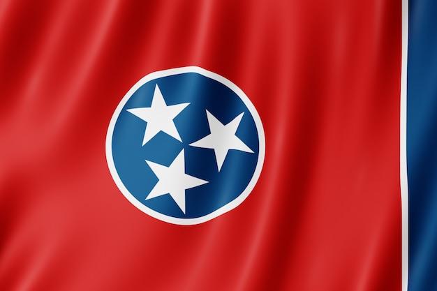 Vlag van tennessee, verenigde staten. 3d-afbeelding van de vlag van tennessee.