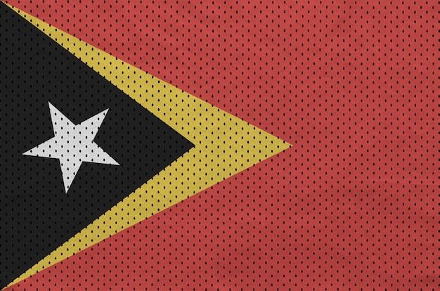 Vlag van timor leste gedrukt op een polyester nylon sportkledingweefsel