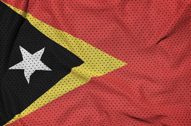Vlag van timor leste gedrukt op een sportkleding van polyester-nylon