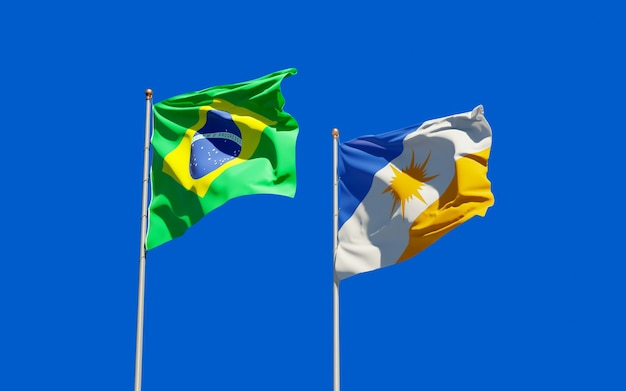 Vlag van tocantins brazilië. 3d-illustraties