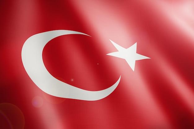 Vlag van turkije zwaaien in lus