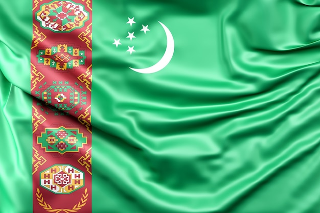Vlag van turkmenistan