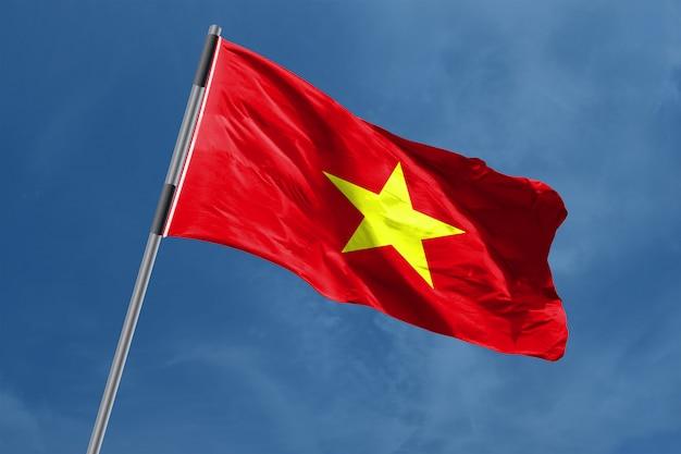 Vlag van vietnam zwaaien