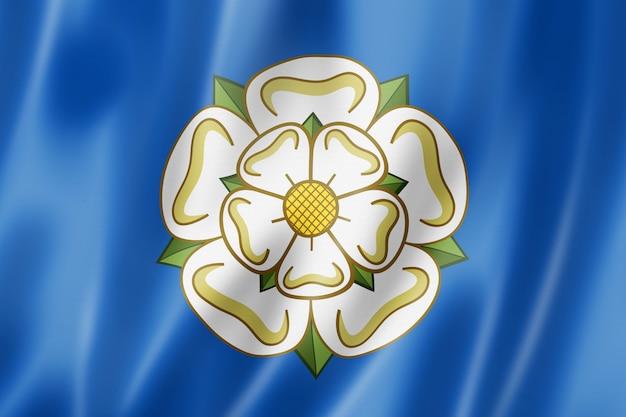 Vlag van yorkshire county, verenigd koninkrijk