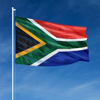 Vlag van zuid-afrika vliegen
