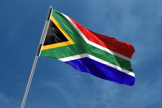 Vlag van zuid-afrika zwaaien