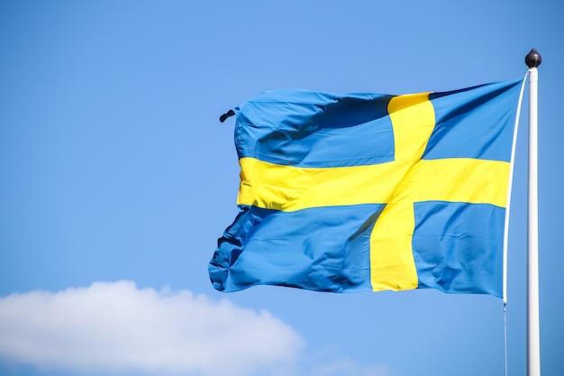 Vlag van zweden op een paal