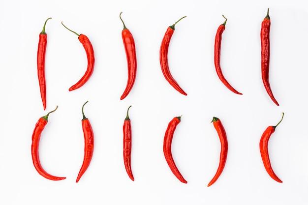 Vlak leg mexicaanse voedselsamenstelling met chilis