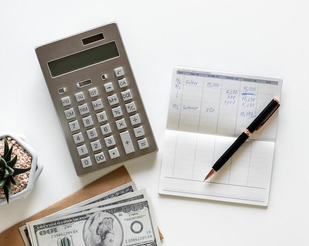 Vlak leg van het verdienen van geldconcept