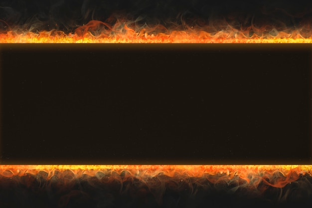 Vlamframe, rechthoekige vorm, realistisch brandend vuur