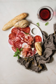 Vlees assortiment plaat