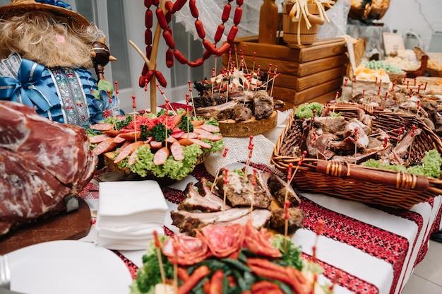 Vlees delicatessen plaat