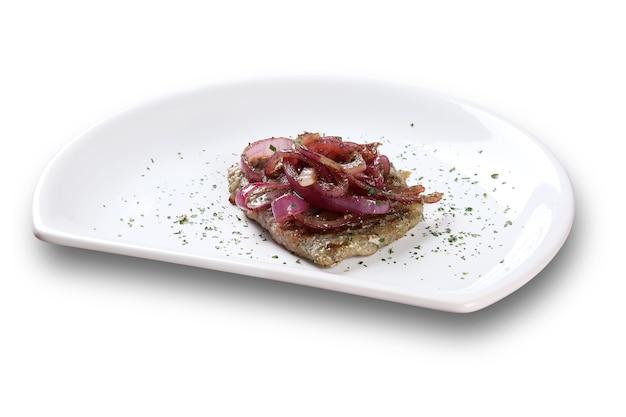 Vlees met ui.
