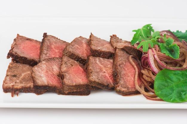 Vleessnijden op plaat