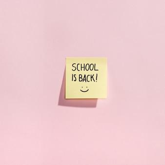Vlei ga terug naar schoolelementen met plakbriefjes