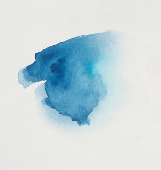 Vlek van helder blauw pigment