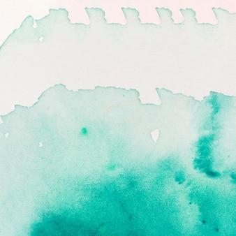 Vlek van turquoise aquarel