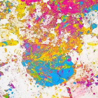 Vlekken van violette, blauwe, groene en gele heldere droge kleuren