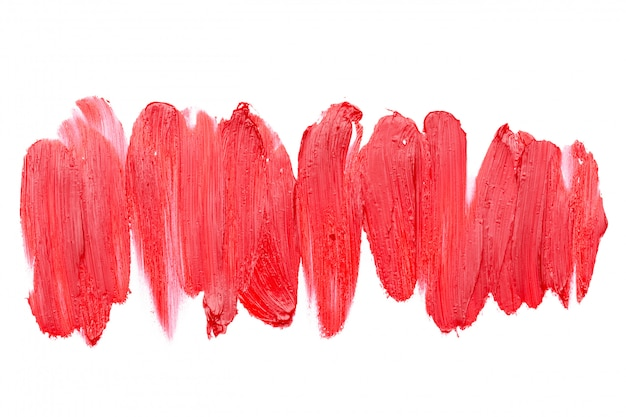 Vlekkerige lippenstift geïsoleerd