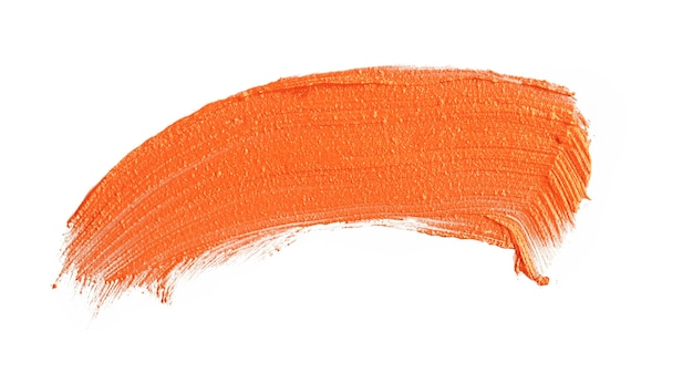 Vlekkerige lippenstiftlijnen geïsoleerd op een witte achtergrond close-up