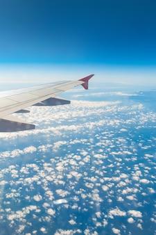 Vleugel van een vliegtuig