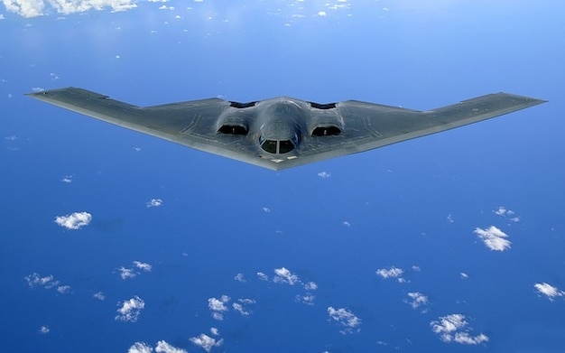 Vleugels delta stealth vliegtuigen bommenwerper