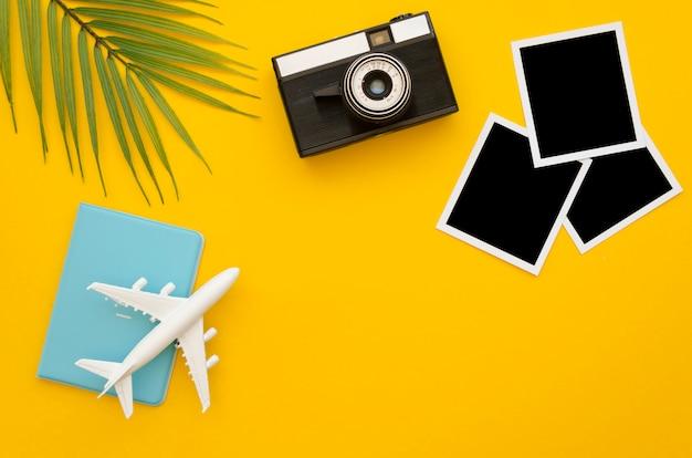 Vliegtuig en foto's van vakantie