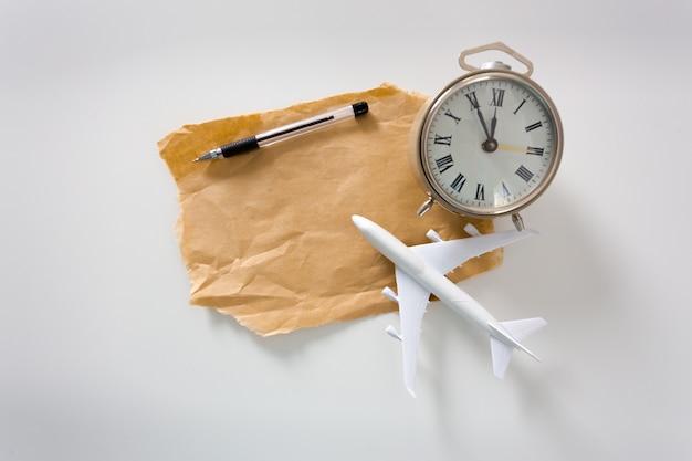 Vliegtuig met copyspace