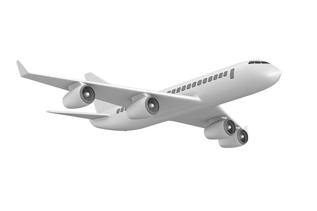 Vliegtuig op witte ruimte